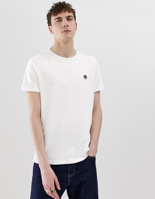 Pretty Green chest logo t-shirt in white