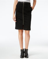 Style&Co. Style & Co Petite Zip-Front Denim Skirt, Only at Macy's
