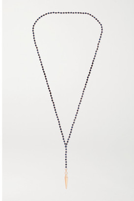 Diane Kordas 18-karat Rose Gold, Dumortierite And Diamond Necklace