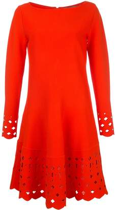 Lela Rose cut out shift dress