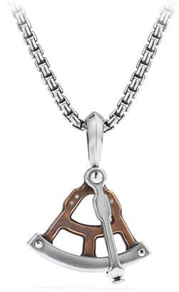 David Yurman Men's 23mm Maritime® Sextant Amulet