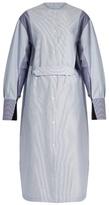 Joseph Eli slit-cuff striped cotton shirtdress