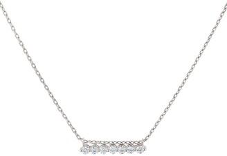 Dinny Hall 14kt white gold Shuga diamond slider necklace