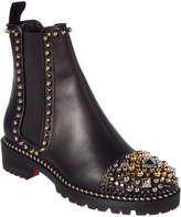 Christian Louboutin Chase A Clou Embellished Leather Chelsea Boot