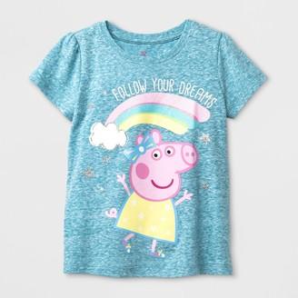 Peppa Pig Toddler Girls' Short Sleeve T-Shirt -