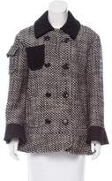 Moschino Cheap & Chic Moschino Cheap and Chic Short Virgin Wool Coat