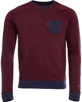Gotcha Mens Contrast Pocket Sweat Burgundy