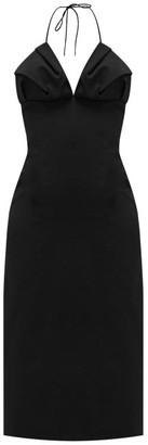 Jacquemus Bambino Halterneck Pleated Dress - Black