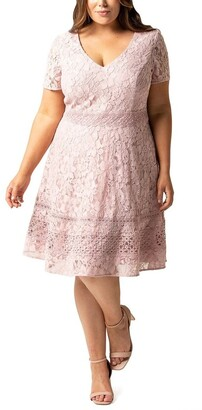 Forever New Curve Selena Curve Lace Prom Dress