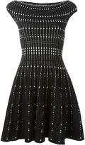 Alexander McQueen textured knit flared dress