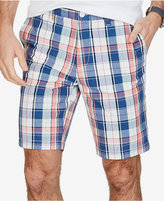 "Nautica Men's 9-1/2"" Slim-Fit Plaid Cotton Shorts"