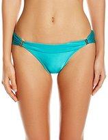 Vix Women's Solid Jade Bia Full Bikini Bottom