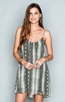 MUMU Trapeze Mini Dress ~ Water Moccasin