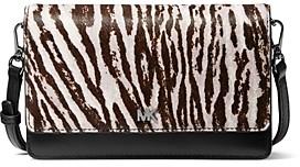 MICHAEL Michael Kors Mott Zebra Print Smartphone Crossbody
