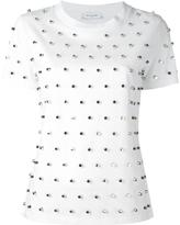 Thierry Mugler silver-tone studded T-shirt