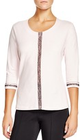 Basler Contrast Lace Trim Top