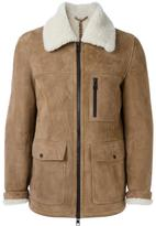 Ami Alexandre Mattiussi zipped shearling jacket - men - Sheep Skin/Shearling - L