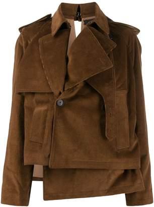 Rokh off-centre button jacket