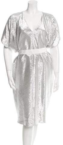 Maison Rabih Kayrouz Metallic Oversize Dress w/ Tags