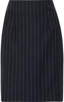 Roberto Cavalli Pinstriped Wool-Blend Mini Skirt
