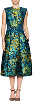 Monique Lhuillier Guipure Lace A-Line Dress