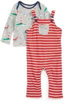 Toddler Boy's Mini Boden Shirt & Overalls Set