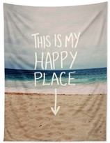 Deny Designs Leah Flores Happy Place Beach Tapestry