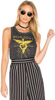 Chaser Bon Jovi Heart Dagger Tank in Charcoal