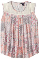 Tommy Hilfiger Mix Media Woven Top Girl's Clothing