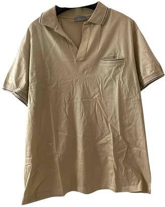 Christian Dior Gold Cotton Polo shirts