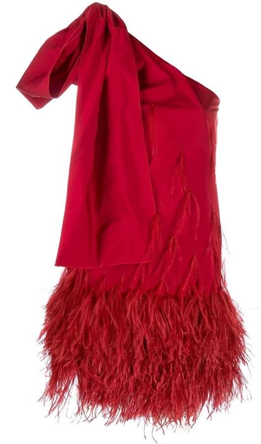 No.21 Feather Embellished Dress