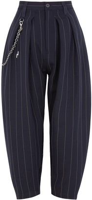 High Pair Up pinstriped tapered-leg twill trousers