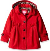 Pink Platinum Little Girls' Toddler Wool Jacket with Bow Detail