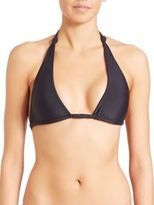 Mikoh Swimwear St. John Knot Halter Bikini Top