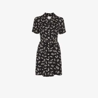 HVN Maria leopard print silk mini dress