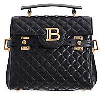Balmain Women's B-Buzz Quilted Leather Top Handle Bag