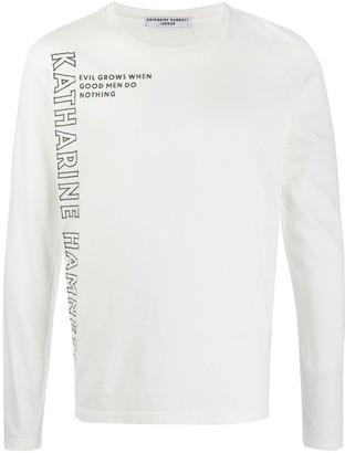 Katharine Hamnett long-sleeved logo T-shirt