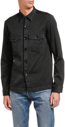 Tom Ford Men's Garment-Dyed Twill Overshirt