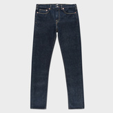 Paul Smith Men's Slim-Fit Indigo Ozone-Wash Organic-Cotton Jeans