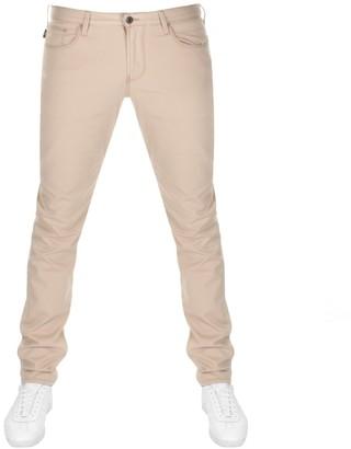 Giorgio Armani Emporio J06 Slim Fit Jeans Beige