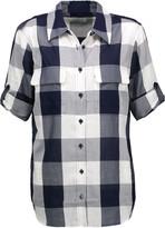 Equipment Slim Signature checked cotton-voile shirt