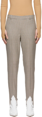 Givenchy Brown Wool Check Stirrup Trousers
