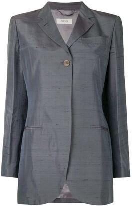 Romeo Gigli Pre-Owned iridescent boxy blazer