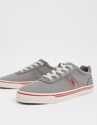 Polo Ralph Lauren hanford sneaker in grey with red logo