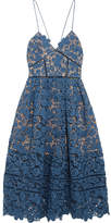 Self-Portrait Azaelea Guipure Lace Midi Dress - Blue