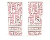 Christian Dior Pink Logo Enamel Earrings