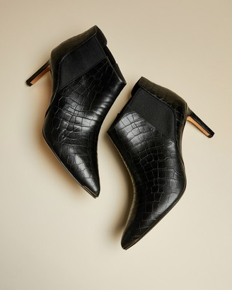Ted Baker Exotic Leather Pointed Boots