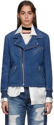 Junya Watanabe Indigo Denim Moto Jacket