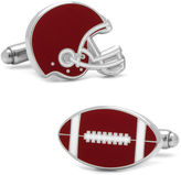 Asstd National Brand Varsity Football and Helmet Cuff Links