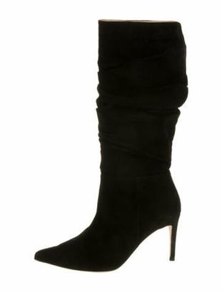 Alexandre Birman Suede Slouch Boots Black